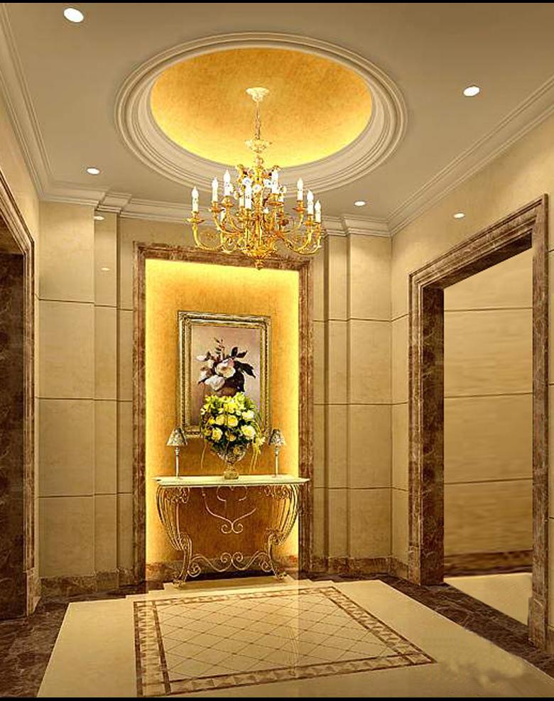 宜宾市丽雅置地用心打造瑞士风情园入户门厅高清图片