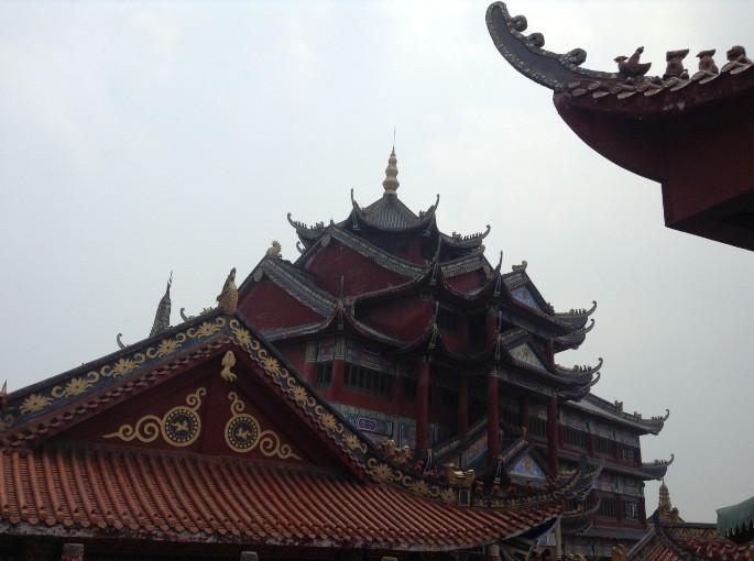 蜀式艺术手绘建筑